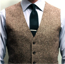 Tie clip with a waistcoat